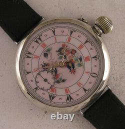 120 Years Old ORIGINAL French Two Dials Oriental & Roman Wrist Watch Perfect