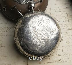 12cm, 1200gr DOUBLE WHEEL DUPLEX ESCAPEMENT Antique COACH Watch