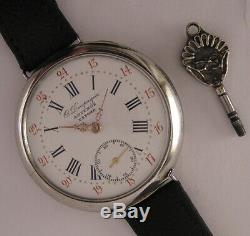 130 Years Old O. DOUPAGNE ANDENNE Antique Belgique Wrist Watch A+ Fully Serviced