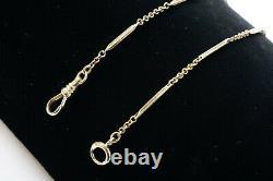 14.5 10k Yellow Gold Antique Fancy Pocket Watch Chain, 7.2g