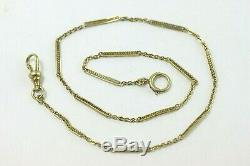 14k Yellow Gold Antique Pocket Watch Chain, 12 3/4