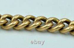 15CT 53gr Solid Gold Antique Fob Albert Chain Chunky & Heavy