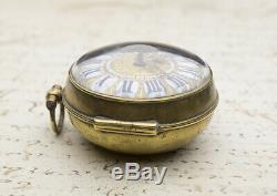 1700 LOUIS XIV OIGNON Verge Fusee Antique Pocket Watch Montre Coq