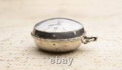 1710 Verge Fusee Oignon Antique Pocket Watch MONTRE COQ SpindelTaschenuhr