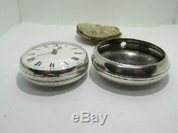1824 verge fusee pocket watch solid silver very good condition and working