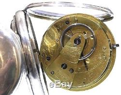 1826 Massey Type II Very Large Antique Pocket Watch Silver Fusee Lever. Serviced