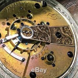 1857 Waltham P. S. Bartlett Pocket Watch / Fogg's 11 Jewels Key Wind Antique