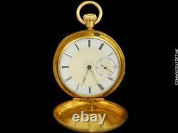 1869 PATEK PHILIPPE Antique Bespoke Midsize 40mm Pocket Watch 18K Gold