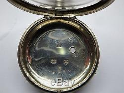 1877 Antique Chester silver verge / Fusee Pair Case pocket watch cases only