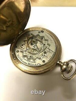 1888 American Waltham Big 18 Size Gold Filled Hunter Pocket Watch, Running