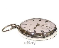1891 Antique John Forrest Silver Fusee Lever Pocket Watch. Serviced