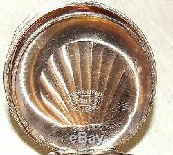 1893 AMERICAN WALTHAM 14K Pocket Watch Gold Filled STARS Elgin Hunter Case WORKS