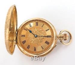 18k Gold / Stunning / Antique Venta Ladies Pocket Watch