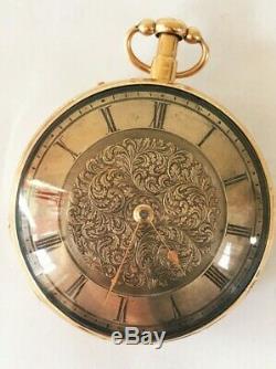 18k solid gold pocket watch antique repeater Caspar Kaufmann working