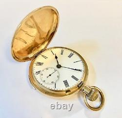 18kt Gold full hunter minute repeater antique pocket watch