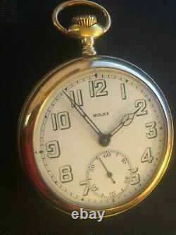 1900 Rare Rolex Large 52mm 14k Gold Antique Pocket Watch Runs Perfect