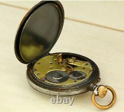1900's Antique LONGINES 19.75 open face mechanical Swiss made pocket watch