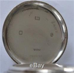 1938 J W Benson Silver Cased 15 Jewelled Swiss Lever Pocket Watch Box And Chain