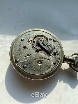 24 Jewel Illinois Bright Spotted Bunn Special 18s Antique Railroad Pocket Watch
