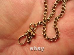 #2 of 2, VERY OLD VTG ANTIQUE 14K ROSE GOLD VICTORIAN ERA POCKET WATCH FOB CHAIN