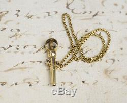 30mm MINIATURE REPEATER 18k GOLD Repeating Antique Pocket Watch MOULINIER GENEVE