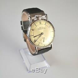 42mm Rolex vintage chronometer men's dress platinum plated antique trench watch