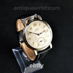 46mm Rolex vintage men's chronometer antique WW2 watch gilt dial dress formal