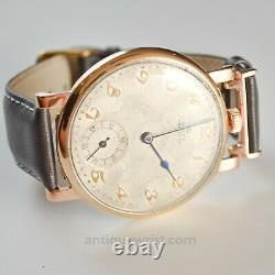 46mm Solid Gold Rolex antique military trench watch mens vintage pre tudor