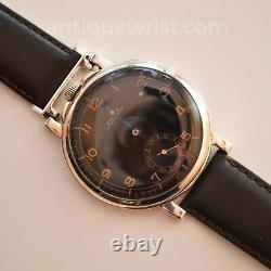 48mm Antique Rolex pilots chronometer military vintage trench men's watch