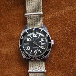 ANKER Oversize Military vintage Diver watch UMF-Ruhla DDR 1970er