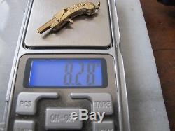 ANTIQUE 14kt GOLD PISTOL KEY FOB FOR POCKET WATCH