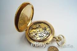 ANTIQUE 18K GOLD INVICTA REPEATER POCKET WATCH ITALY GOVERNOR of TRIPOLI 1913-14