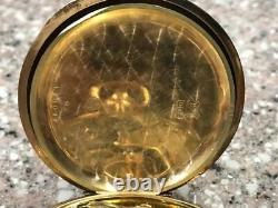 ANTIQUE 1900s 14KT GOLD OMEGA GRAND PRIX PARIS CHRONOMETRE POCKET WATCH