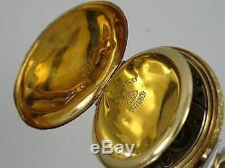 ANTIQUE 1909 ELGIN SOLID 14K GOLD LADIES POCKET WATCH 32 mm case WORKING GOOD