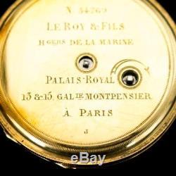 ANTIQUE 20thC FRENCH 18K GOLD, ENAMEL & DIAMOND-SET WATCH CHATELAINE c. 1900