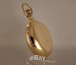 ANTIQUE ELGIN H. H. TAYLOR 14k GOLD FILLED BOX HINGE FANCY DIAL 18s POCKET WATCH