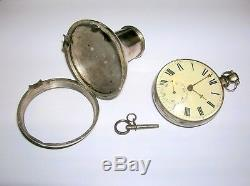 ANTIQUE GADGET CANE With2 HEADS INCLUDING VERGE FUSE POCKET WATCH-EXCELLENT COND
