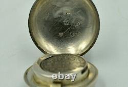 ANTIQUE GOLIATH ATLAS TIFFANY. 935 SILVER POCKET WATCH+CHAIN+FOB. 418g WOW