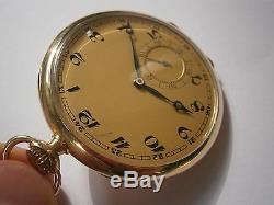 ANTIQUE POCKET WATCH 585 GOLD 14K IWC SCHAFFHAUSEN INTERNATIONAL WATCH Co