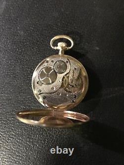 ANTIQUE REGINA 14k Gold Plated POCKET WATCH 15 JEWELS 12 size (omega mvmt)