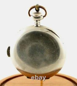 ANTIQUE! Swiss Quarter Hour Repeater Pocket Watch in Silver Case