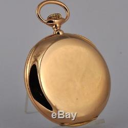 ANTIQUE ULYSSE NARDIN HEAVY 55gr / U$1800 SOLID 18K GOLD OPEN FACE POCKET WATCH