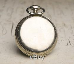AUTOMATIC SELF WINDING LOEHR PERPETUAL PATENT Antique Pocket Watch