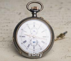 AUTOMATIC SELF WINDING RARE Antique Pocket Watch by Wuilleumier Freres