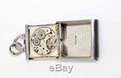 A Splendid Antique Art Deco Sterling Silver 925 Enamelled Rolex Purse Watch