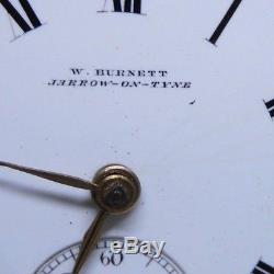 A Superb Antique Fusee Pocket Watch by Burnett Jarrow on Tyne 1879