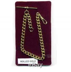 Albert Chain Solid Rolled Gold Single Pocket Watch Fob Heavy Duty BNIB FA431