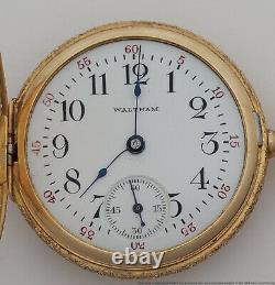 Amazing 14k Gold High Relief Repousse Ladies Waltham Antique Pocket Watch