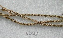 Antique 10K Rose Gold Pocket watch Chain Victorian 14.8 gr. $390+ scrap
