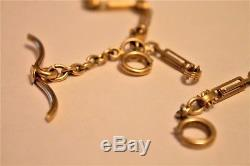 Antique 14K Gold Pocket Watch Chain FOB SOLID Gold HEAVY 28.6 Grams NO RESERVE